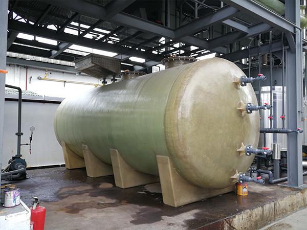 ถังไฟเบอร์กลาสทรงนอน (FRP Horizontal Tank)